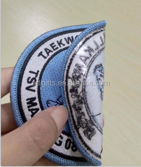 Small quantity order self adhesive embroidery patch for wholesale