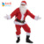 quality Christmas plush X'mas adult party men's costumes plus size santa claus velvet cosplay costumes