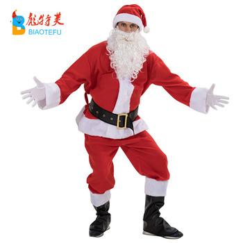 Plus Size Christmas Costumes.Quality Christmas Plush X Mas Adult Party Men S Costumes Plus Size Santa Claus Velvet Cosplay Costumes Buy Christmas Costumes Party Costumes Santa