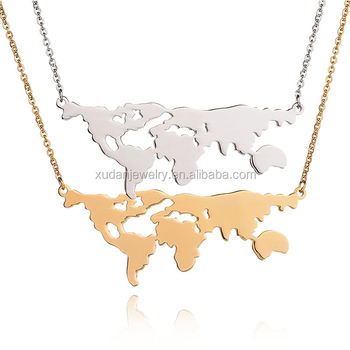 Fashion jewelry world necklace earth day gift world map pendant fashion jewelry world necklace earth day gift world map pendant necklace gumiabroncs Gallery