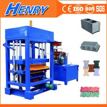building material machinery QT4-30 small scale hand operated concrete block making machine, color paver brick machine price