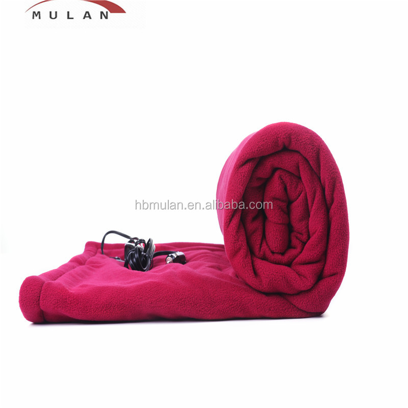 Portable Carry Bag 12v Car Electric Heated Throw Blanket
