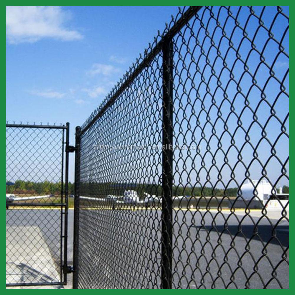 1-1/4''/2 Inch 9 Gauge 6 Foot Used Black Vinyl Chain Link Fence Mesh For  Sale - Buy Chain Link Fence,Black Chain Link Fence,Black Plastic Fencing  Mesh