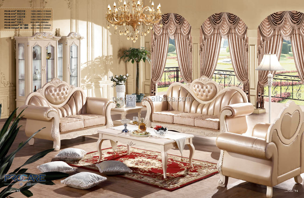 Good quality solid wood leather sofa set for living room for Quality living room sets