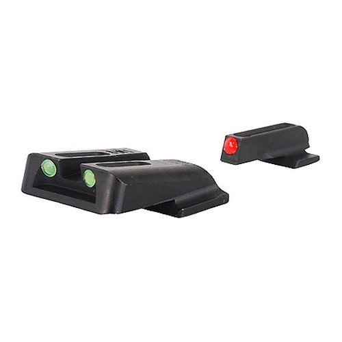 TRUGLO Fiber-Optic Front and Rear Handgun Sights for S&W M&P (including SHIELD & .22 models, excluding .22 Compact / C.O.R.E. models) SD9 and SD40 (excluding VE models)