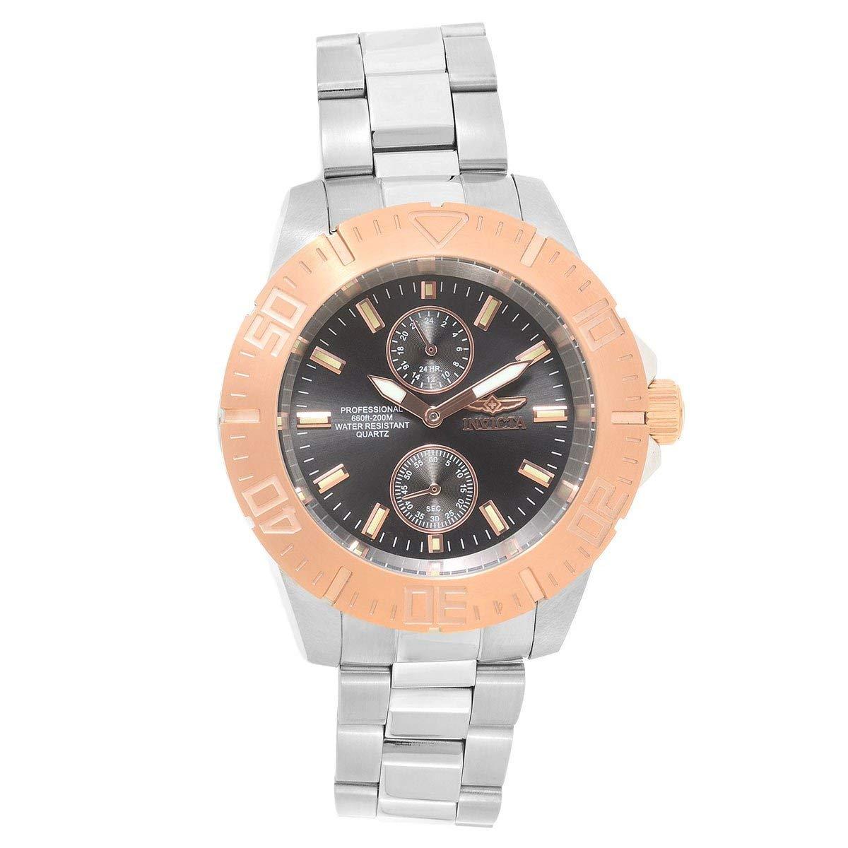 Invicta Men's 'Pro Diver' Quartz Stainless Steel Diving Watch, Color:Silver-Toned (Model: 23641)