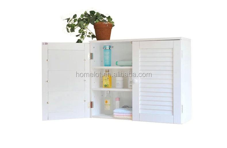 Witte muur pantry kast garage nut planken badkamer opslag keuken