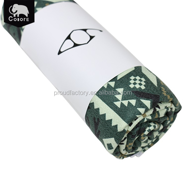 Guangdong supplier hot sale quick-dry and light-weight custom yoga towel for mat
