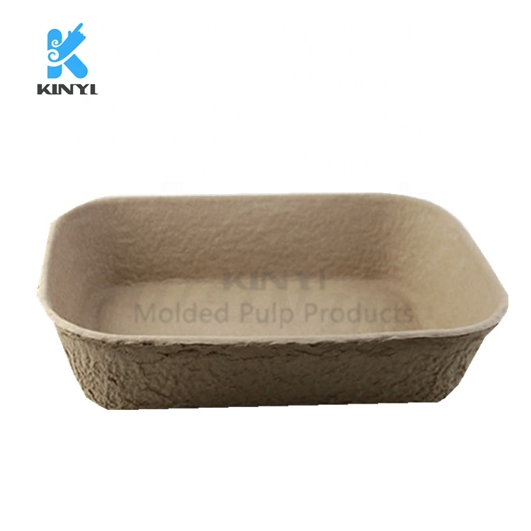 Molded Paper Mache Disposable Cats Litter Box