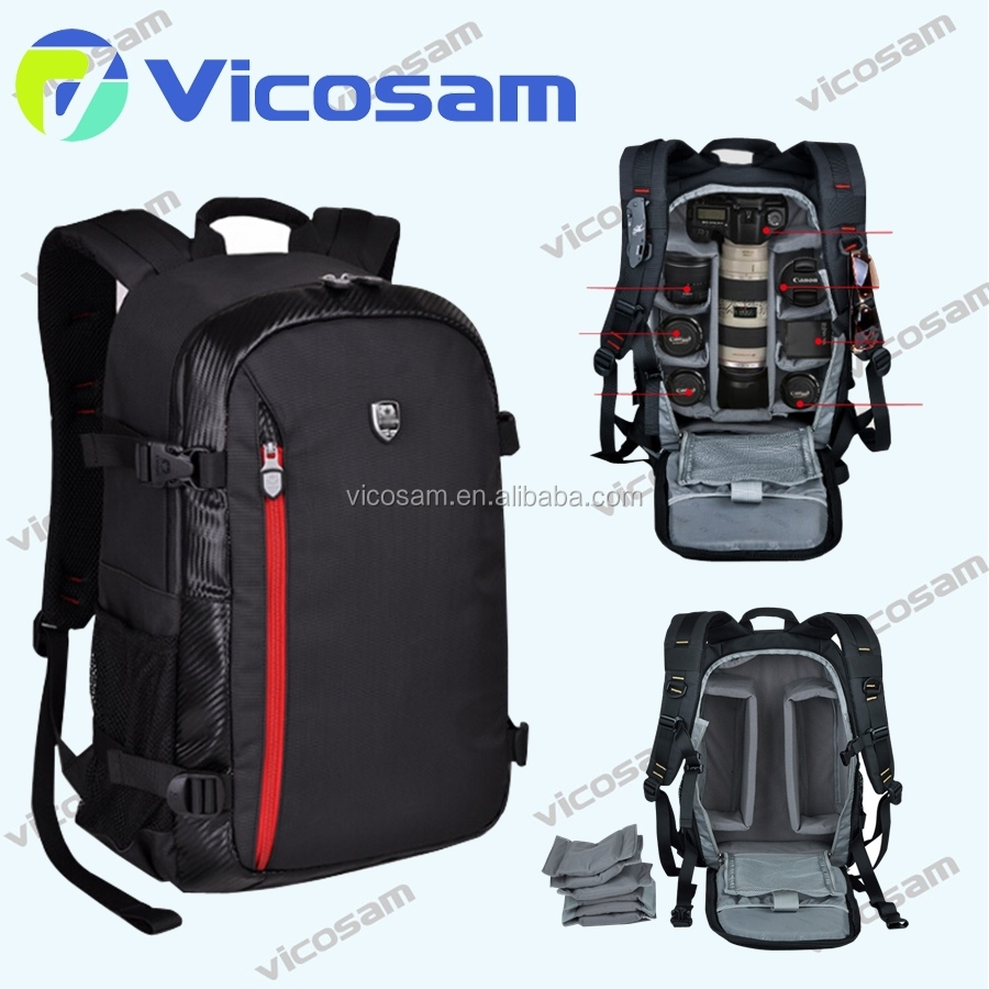Deluxe Digital Camera / Video Padded Backpack bag