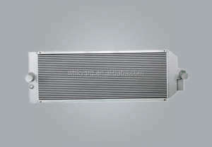 Aluminum Bar And Plate Heat Exchanger E345 Excavator Radiator