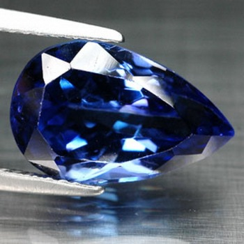 5.05 CT. INTENSE ROYAL BLUE TANZANITE D BLOCK AAA GEMS with GLC certify