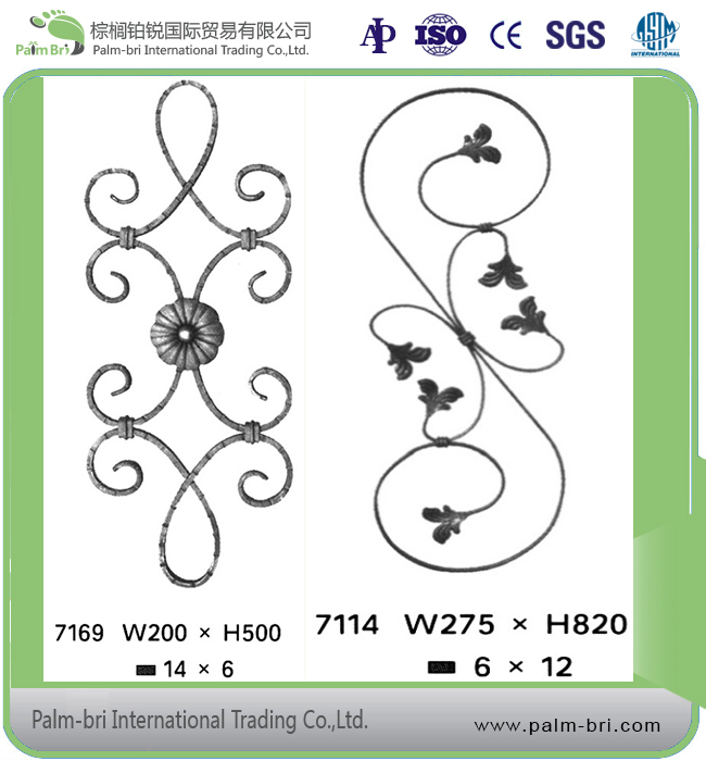 Forged Steel Ornamental Wrought Iron Fence and Rails