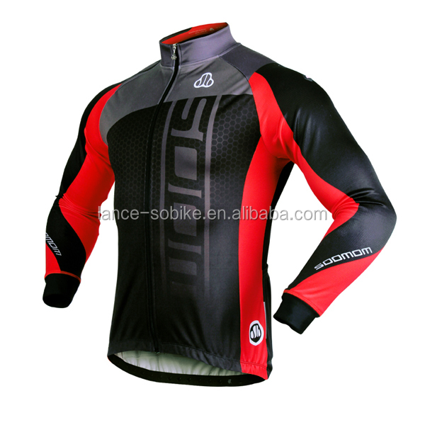 New arrival!!! Red/blue soomom cycling clothing winter/cycling jersey