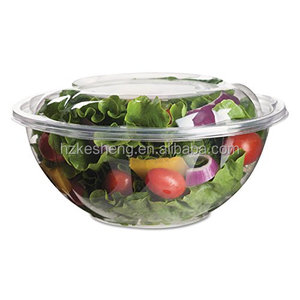 Plastic Material and Stocked Feature plastic salad bowl with lid