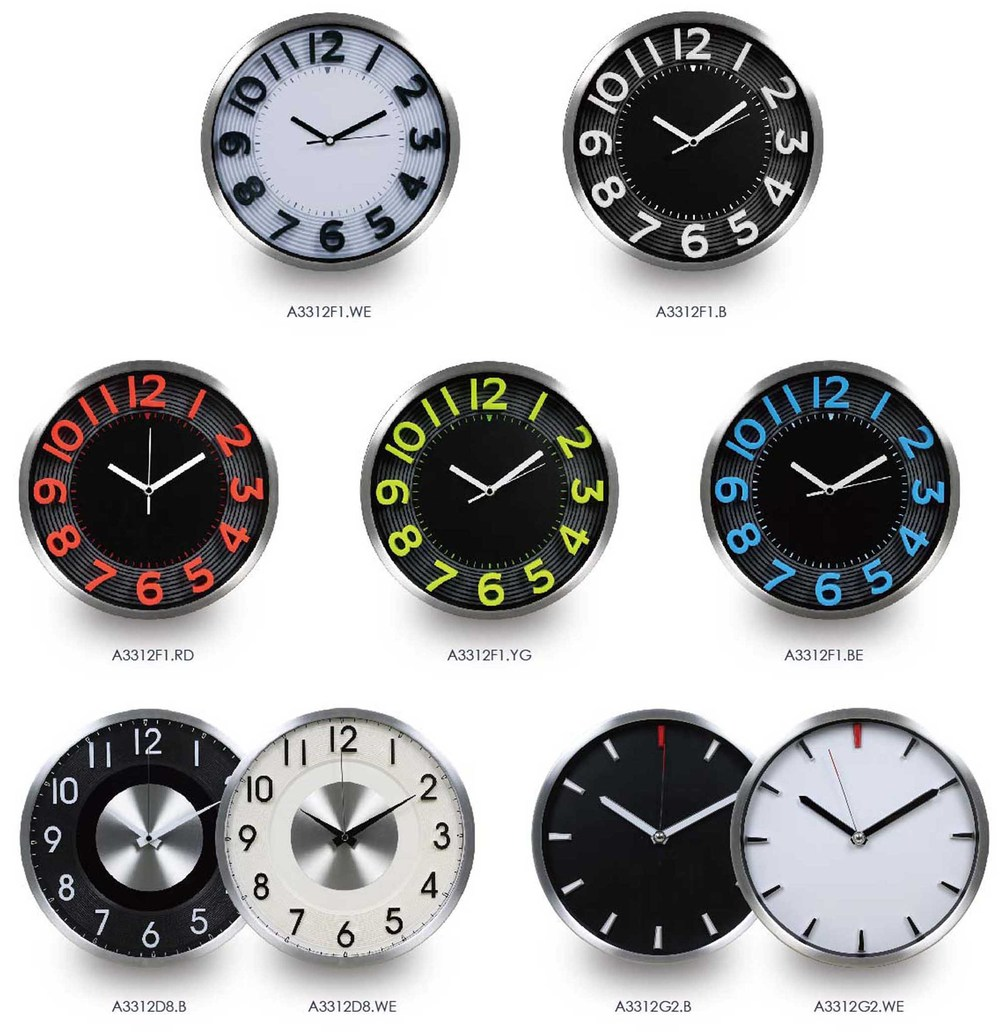 12inch Metal Weather Station Clock/analog Car Clock/wall Clock ...