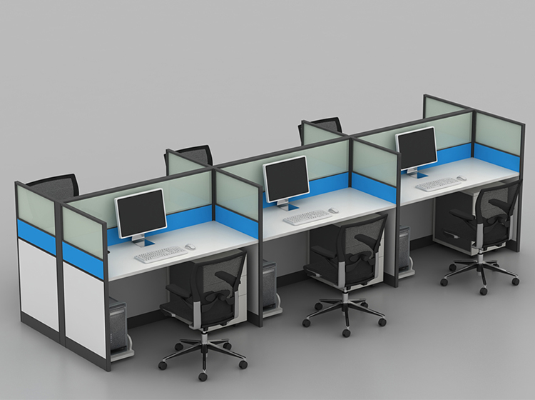 Space Saving Dual Linear Cubicles Modern 1464946008 on small desk layout