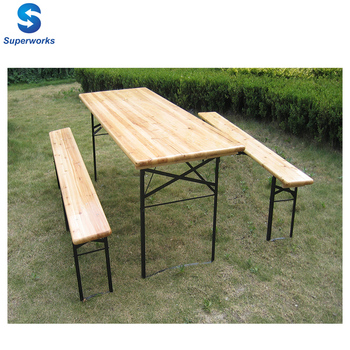 Incredible Outdoor Portable Folding Easy Storage And Transport Wooden Beer Table And Bench Set Buy Two Seater And Chair Set Beer Table And Bench Set Dining Machost Co Dining Chair Design Ideas Machostcouk