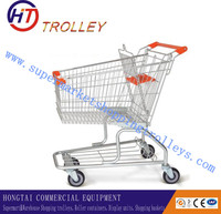 Wal-mart Best price America style 100L shopping trolley with seat