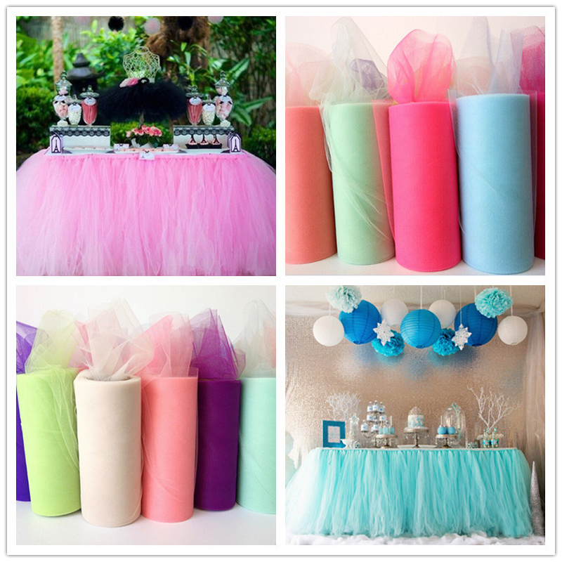 6''X100 YARD Tulle Roll Spool DIY Tutu Fabric Decorative Crafts Christmas