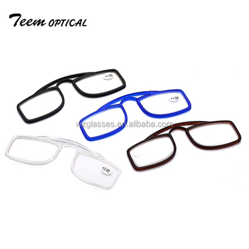 High quality colored frame plastic pocket reading glasses easy to carry