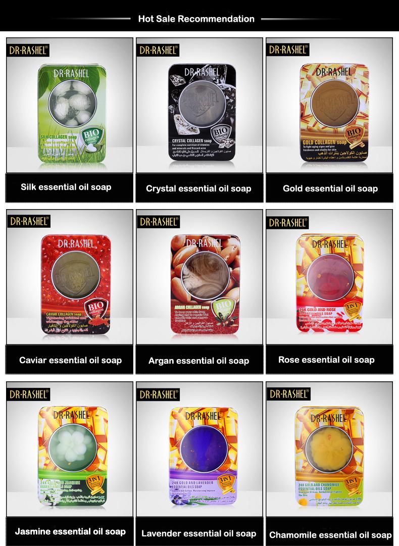 Drrashel 100g Silk Collagen Soften Skin Care Whitening Moisturize Colagen Soap 3pcs Rashel Natural Face Cleaning