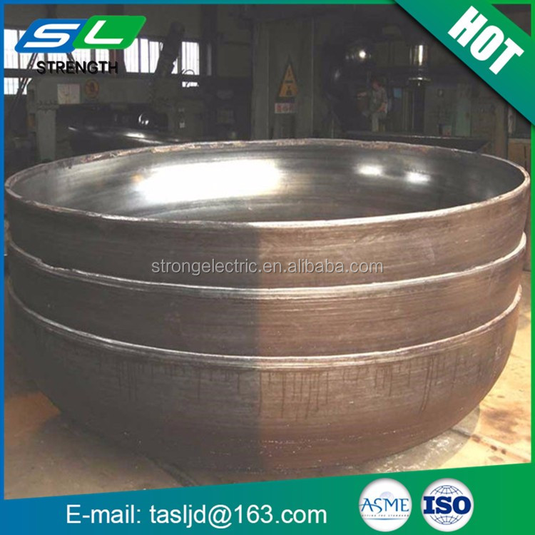 Professional perfect design large diameter customized hemispherical carbon steel pipe end cap