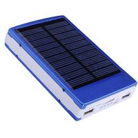 10000Mah Dual USB Backup External Battery Pack Mobile Phone Solar Charger Power Bank