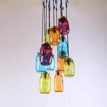 Turbo Roter Glas Lampenschirm Flasche Licht Schatten Für Kronleuchter FP29