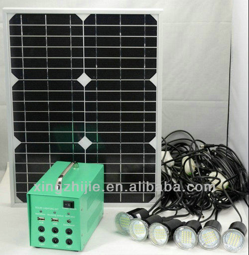 20w solar DC lighting system, home lighting and mobile charging