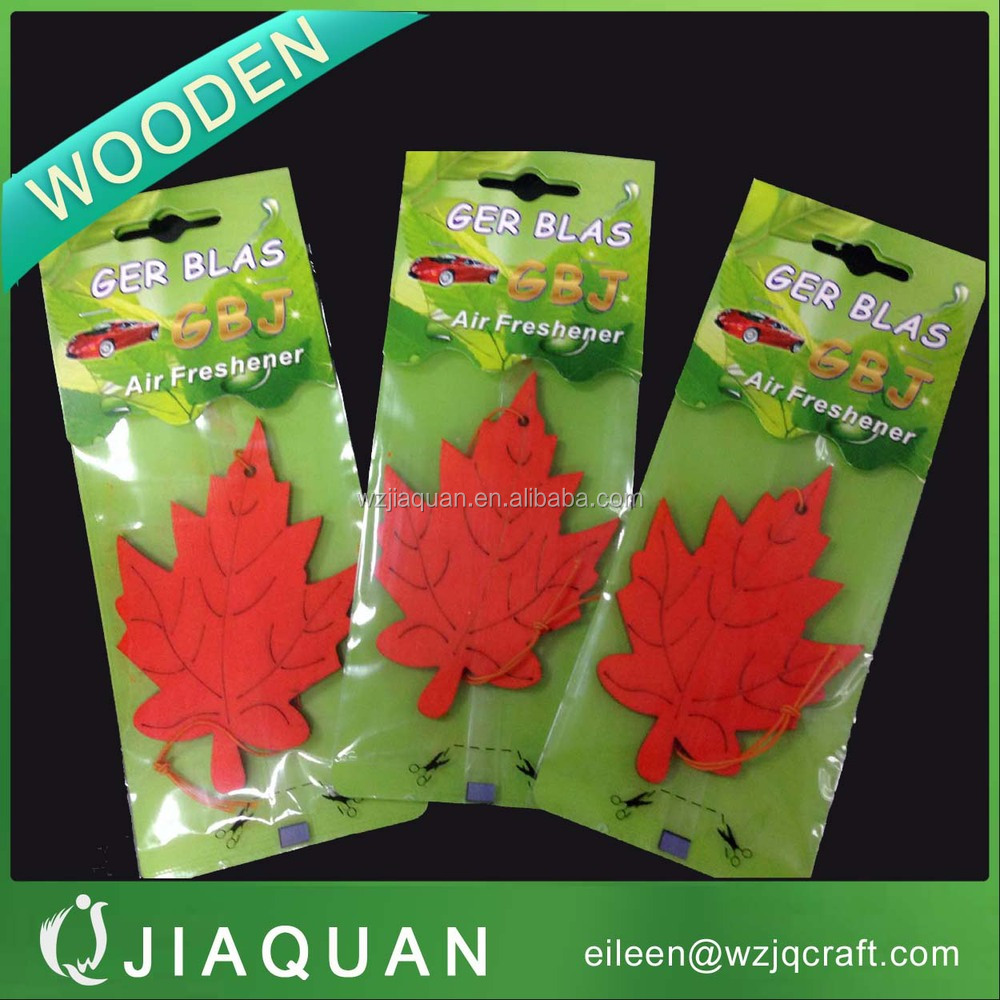 hot sell various scent customized wooden air freshener