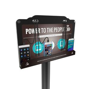 Hot sale floor stand advertisement signage mobile cell phone charging station UC-02