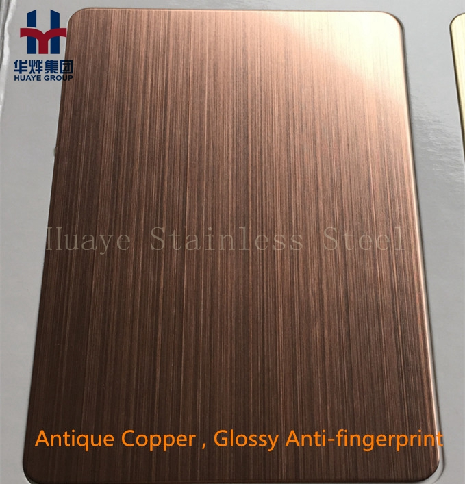 Copper Clad Stainless Steel Color Decorative Sheet And Plate