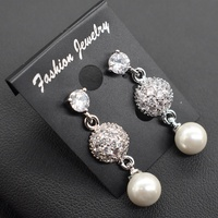 Fashion Earring pearl 925 Beautiful Silver Earring Designs for Women