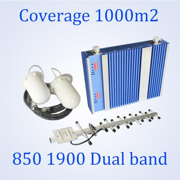mobile signal booster repeater passive GSM Smart repeater antenna cdma 850 1900 mhz repeater, 850/1900 dual band cell booster