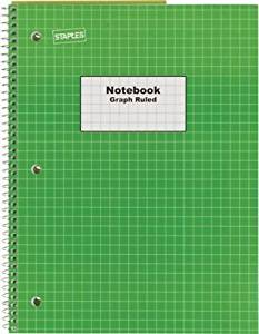 get quotations staples graph ruled 4x4 spiral notebook 8 x 10 12