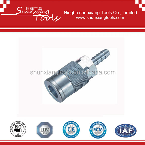 High Quality USA Industrial Tpye Milton Type Steel Air Quick Coupler 1/4'' Body/Air Hose Barb su01-sh-2