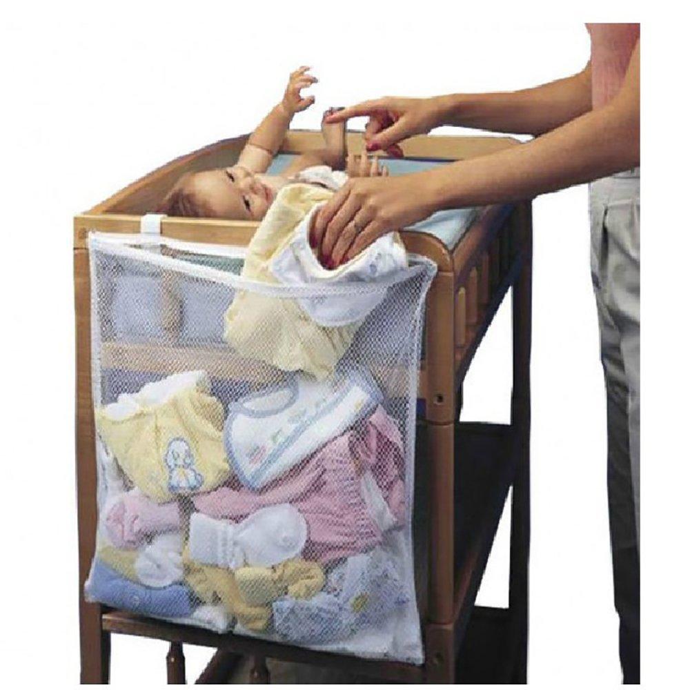 Baby Crib Hanging Net Bag , Baby Clothes Storage Bag, Kids Toy Storage Bag, Super Big Breathable Mesh Nursery Diaper Organizer Storage Bag Bedside Caddy