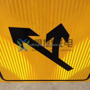 Light weight aluminum reflective custom warning road safety traffic sign