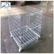 Foldable galvanized metal security metal steel mesh box pallet