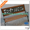 customized outdoor bench with casting legs,outdoor cast iron garden bench,wood slats for cast iron bench