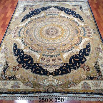 250x350cm Nice Persian Design Handmade Carpet Wool Silk Mixed Rugs