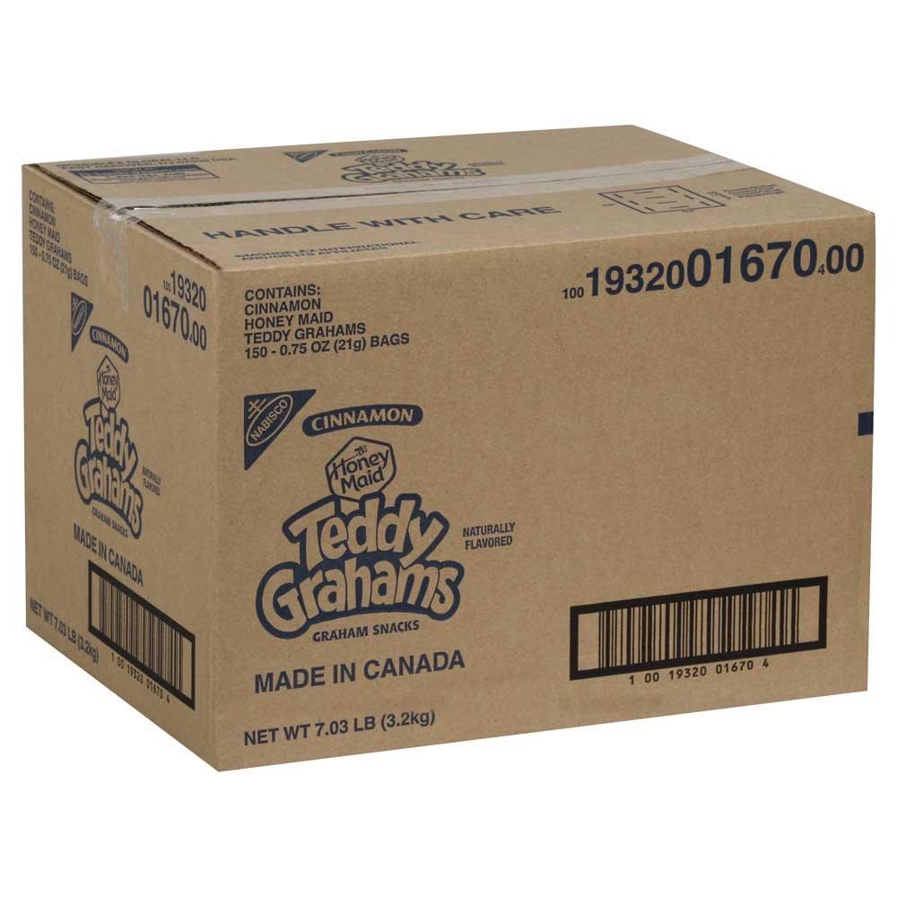 Teddy Grahams - Graham Cracker Cinnamon Cookies 150 Case .75 Ounce