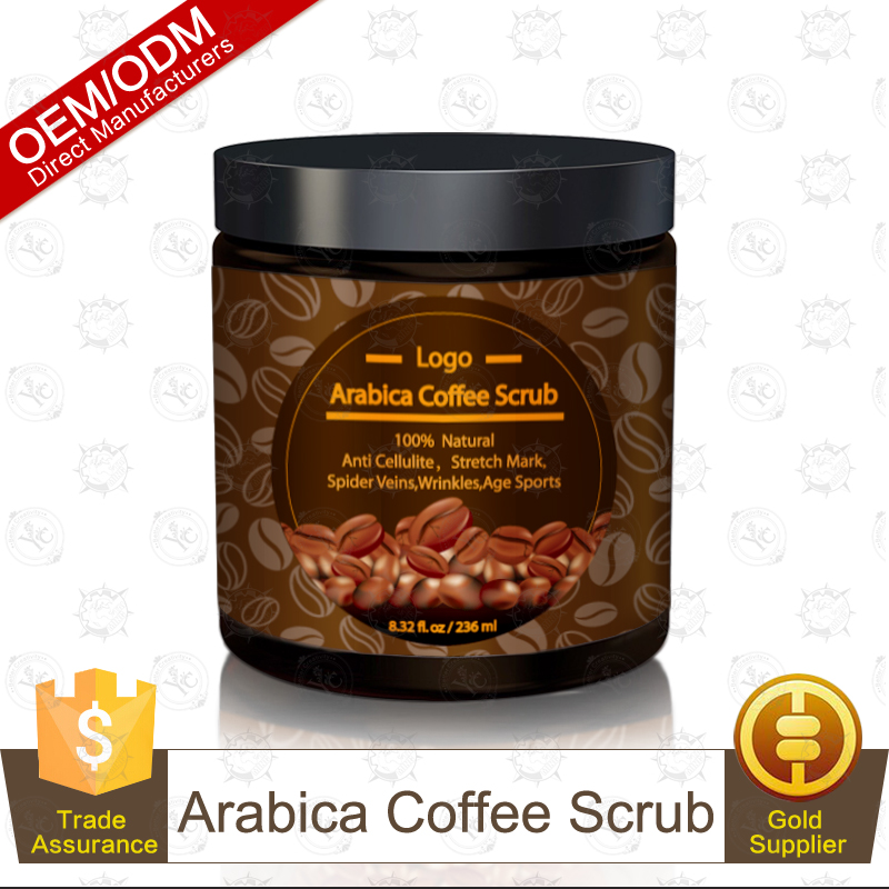 100% Natural Skin Treatment & Care Arabica Coffee Scrub Exfoliator 236ml OEM/ODM Professional Supplier