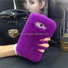 Luxury fur diamond case skin cover for Samsung Galaxy J1 J3 J5 J7, Fur case for Galaxy A3 A5 A7
