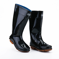 Fashion Man Safety Wellies Working Rubber Rain Boots Wholesale