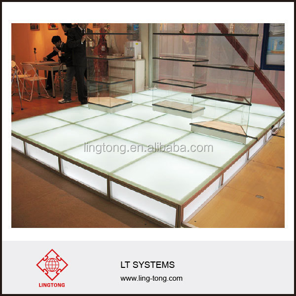 aluminium frame glass top floor for exhibition stand and booth