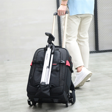 Precision design best travel trolly DSLR camera backpack bag with wheels