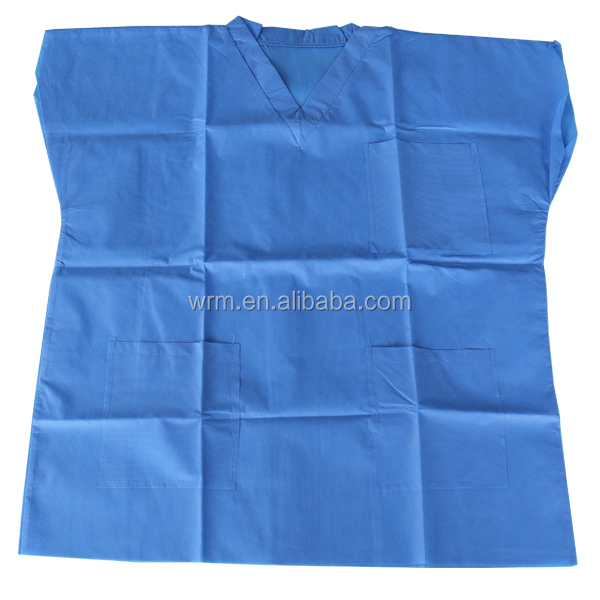 Surgical Gown non sterile disposable isolation PP nonwoven gown with good price