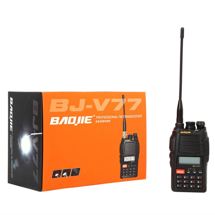 Longo alcance walkie-talkie, rádio walkie-talkie, vhf ou uhf walkie-talkie BJ-V77